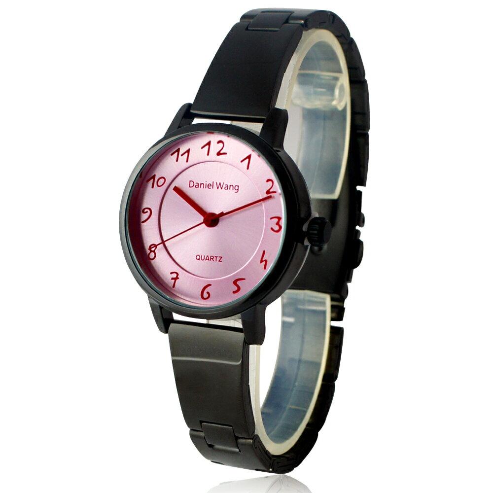 Daniel Wang 3139-IP 典雅小巧錶帶黑框手寫數字質感手錶 0