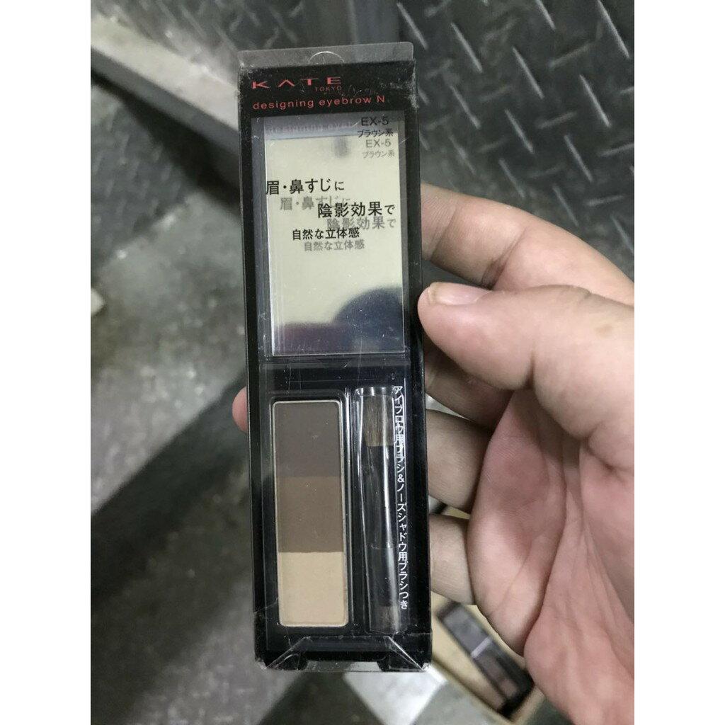 (小資族購物站)【凱婷KATE】3D造型眉彩餅 棕色系EX-5