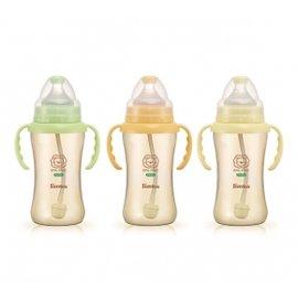 【買3支贈Baby King奶嘴夾】小獅王 辛巴 Simba PPSU 自動把手寬口雙凹中奶瓶 270ml (S6163)【紫貝殼】