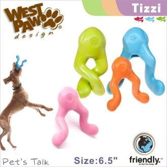 West Paw Design耐咬浮水Tizzi螺旋小人塞食玩具6.5吋-提供1年保固 玩壞免費換新 Pet\
