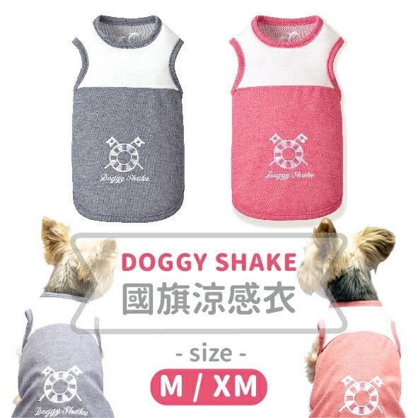日本doggy shake 國旗涼感衣 M/XM號 Pet's talk