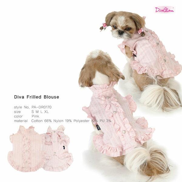 獨家Puppy Angel荷葉邊條紋Lady款背心式襯衫/3色 Pet\