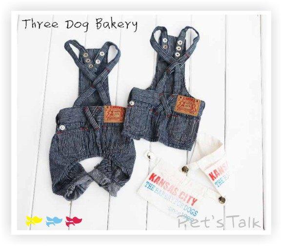 ☆日本Three Dog Bakery超酷條紋背帶休閒吊帶褲/裙 情侶裝 Pet's Talk