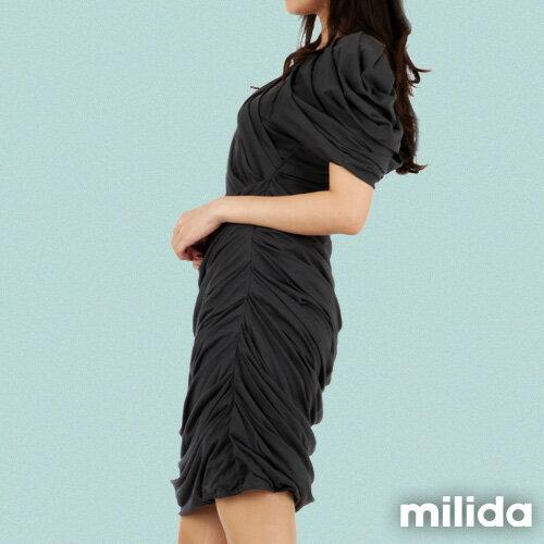 【Milida,全店七折免運】-夏季洋裝-造型款-甜美公主袖設計 2