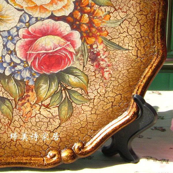 歐式彩繪陶瓷擺盤 掛盤裝飾盤 家居飾品 擺件擺飾 BP011