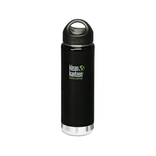 【Klean Kanteen】20oz不鏽鋼寬口環形蓋保溫瓶-日蝕黑