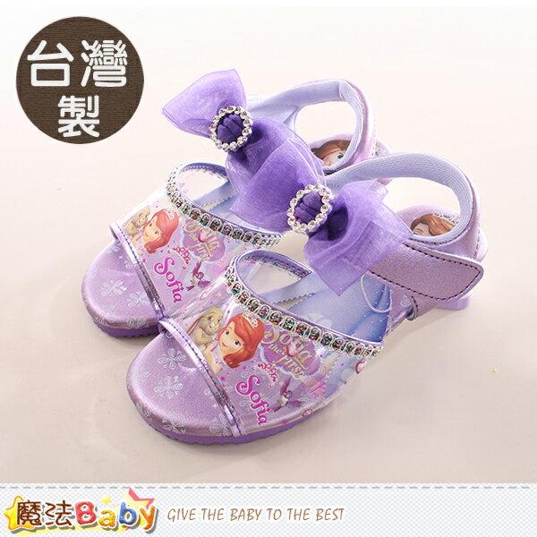 女童鞋 台灣製蘇菲亞公主正版低跟涼鞋 魔法Baby~sa77527