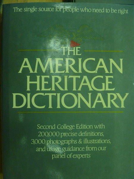 ~書寶 書T5/字典_YHM~The American Heritage Dictiona