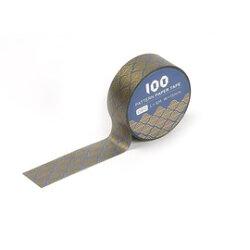100款短米紙膠帶-金葉9075180《筑品文創》