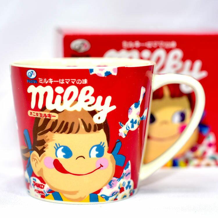 PEKO 不二家 陶瓷馬克杯 日本正版 milky 牛奶妹 250ml