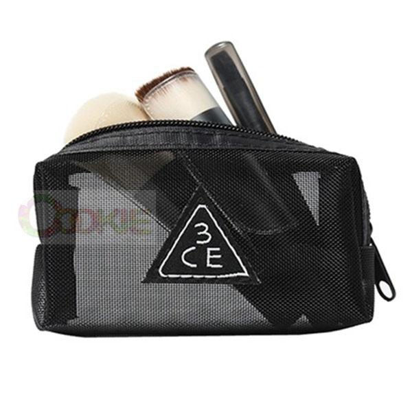 3CE刷具組 - 3CONCEPT EYES MESH BRUSH KIT原裝正品輕巧方便迷你化妝刷具三件組網紗包