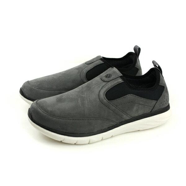 HUMAN PEACE:HushPuppies懶人鞋休閒鞋舒適寬楦灰色男鞋6173M178931no069