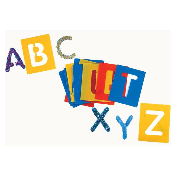 【華森葳兒童教玩具】美育教具系列-小型字母模板-大寫英文字母 L1-AP/2111/ASLC
