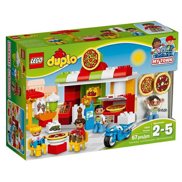 樂高積木LEGO《LT10834》2017年Duplo得寶系列-披薩店