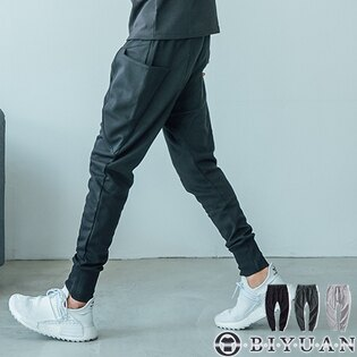 高品質大口袋飛鼠褲休閒褲【JG3093】OBIYUAN立體剪裁運動褲束口褲共3色