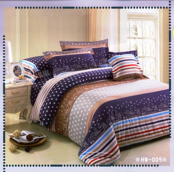 ✧臺灣製✧舒柔棉磨毛超細纖維床包組《HW-005》5X6.2尺雙人床包組+兩用被 四件組◤彩虹森林◥