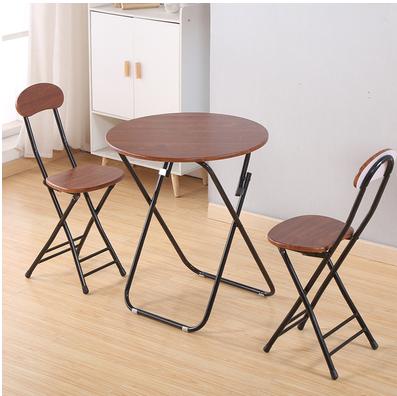 簡易折疊圓桌餐桌家用小戶型吃飯小桌子戶外擺攤桌便攜式桌椅 全館特惠8折