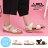 格子舖*【KTW6008】MIT台灣製 嚴選簡約金屬釦環皮革 舒適時尚2CM低粗跟一字涼鞋 2色 1