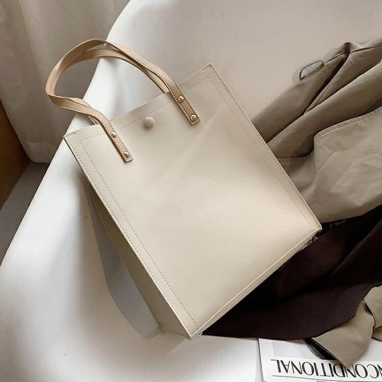 托特包 春夏上新女士大包包2021流行新款潮時尚簡約大容量百搭單肩托特包 【百淘百樂】