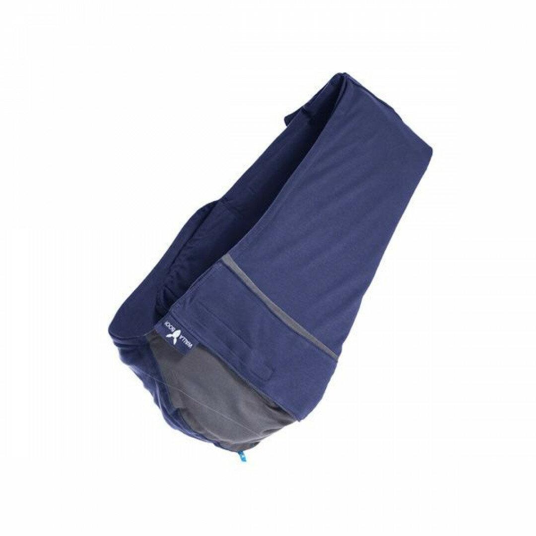 【Wallaboo】 酷媽袋鼠背巾/揹巾-雙色(深藍/灰)
