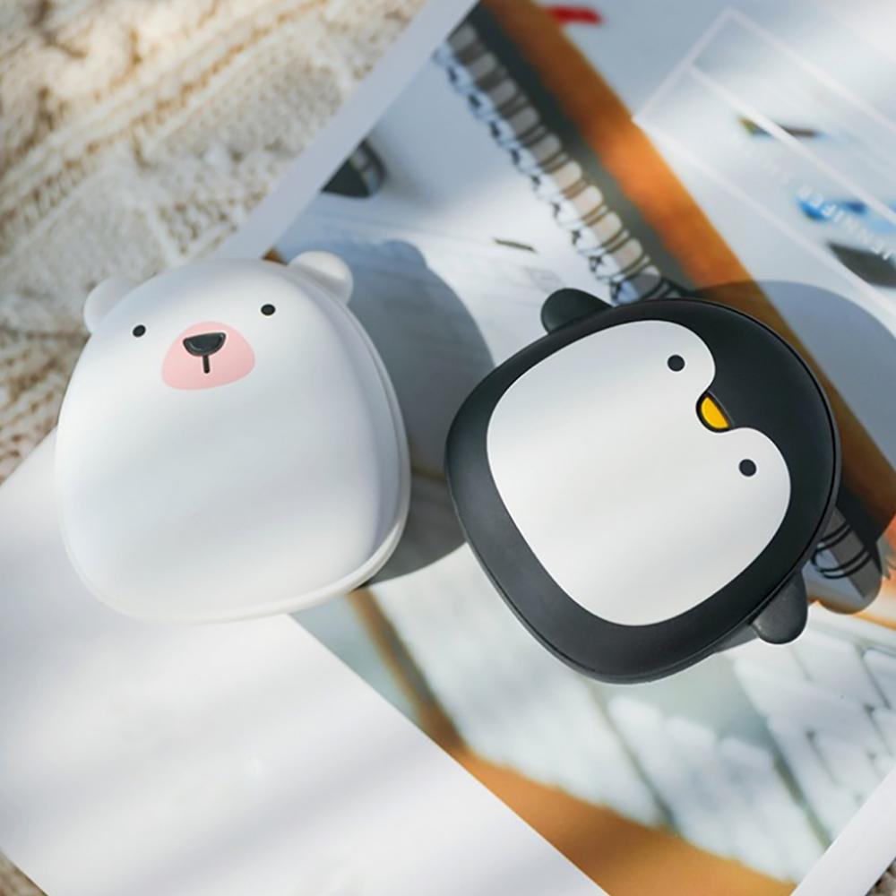 北極熊 企鹅 麋鹿 暖手寶 暖手袋 附收納袋 USB迷你 暖暖包 冬季暖手寶 生日禮物 極地物種情侶充電暖手寶 禮物 9