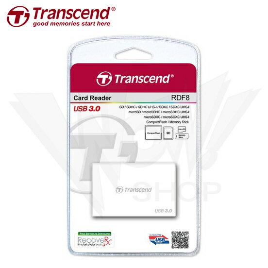 Transcend 創見 F8 USB3.0 多功能讀卡機 White