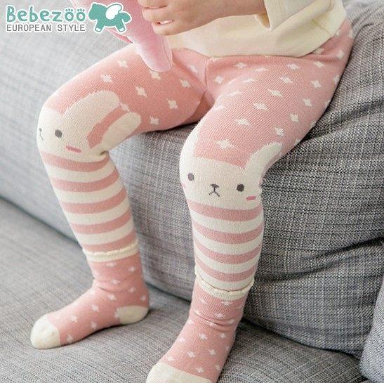 EMMA商城^~韓國 款 粉嫩小兔子保暖內搭屁屁長褲 防滑襪子 PP褲 2件組