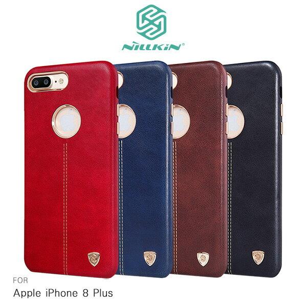 強尼拍賣~NILLKINAppleiPhone8Plus5.5吋英士保護殼皮革耐磨保護套