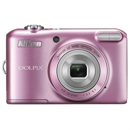 "Nikon Coolpix L28 20.1 Megapixel Compact Camera - Pink - 3"" LCD - 16:9 - 5x Optical Zoom - 4x - Digital (IS) - 5152 x 3864 Image - 1280 x 720 Video - PictBridge - HD Movie Mode 0"