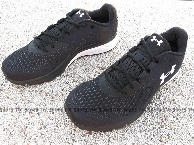 《下殺69折》Shoestw【1298553-001】UNDER ARMOUR Charged Rebe 慢跑鞋 網布 黑 男生 1