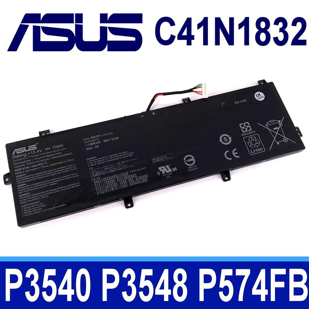 ASUS C41N1832 4芯 原廠電池 C41P0J1 C41POJ1 P3540FB P3548FB P574FB PE574FB Pro 3548FB 574FB PX574F
