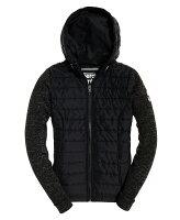 極度乾燥商品推薦到極度乾燥 Superdry Storm Hybrid 拉鍊夾克外套 17年新款 防風保暖 女款 毛呢拼接袖 黑灰色就在Topshop推薦極度乾燥商品