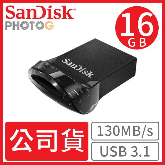【公司貨】SanDisk 16GB Ultra Fit USB 3.1 CZ430 隨身碟 130MB / s cz43後繼 典雅黑 SDCZ430-016G 0