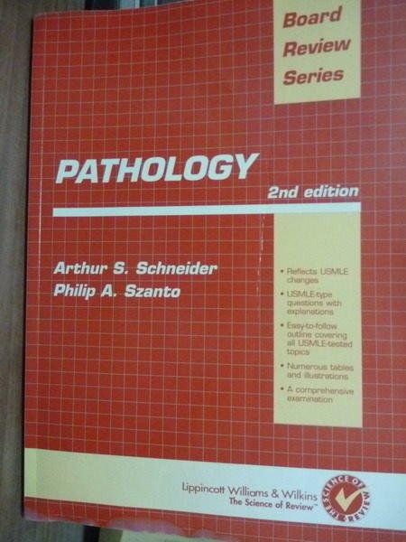 【書寶二手書T3/大學理工醫_QKM】Pathology: Board Review Series_2/e