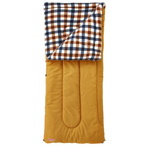 【露營趣】中和 附手電筒 Coleman  0℃ 棕格紋刷毛睡袋 信封型睡袋 化纖睡袋 纖維睡袋 可全開併接CM-26648