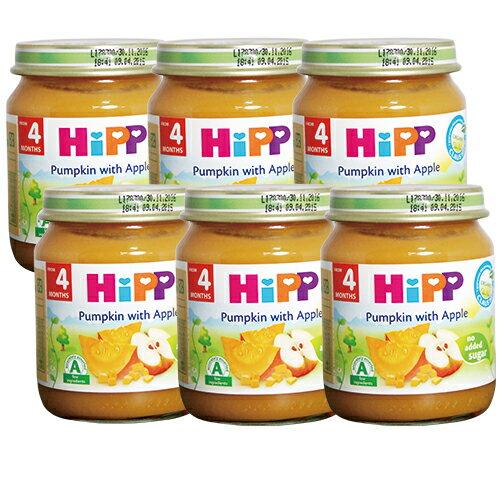 HiPP喜寶 有 機蘋果南瓜泥(6罐)#1084x6