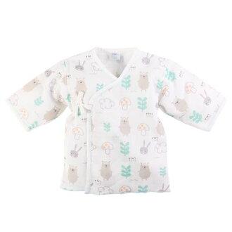 ★衛立兒生活館★【ViVibaby】小熊超柔紗布肚衣-藍60cm