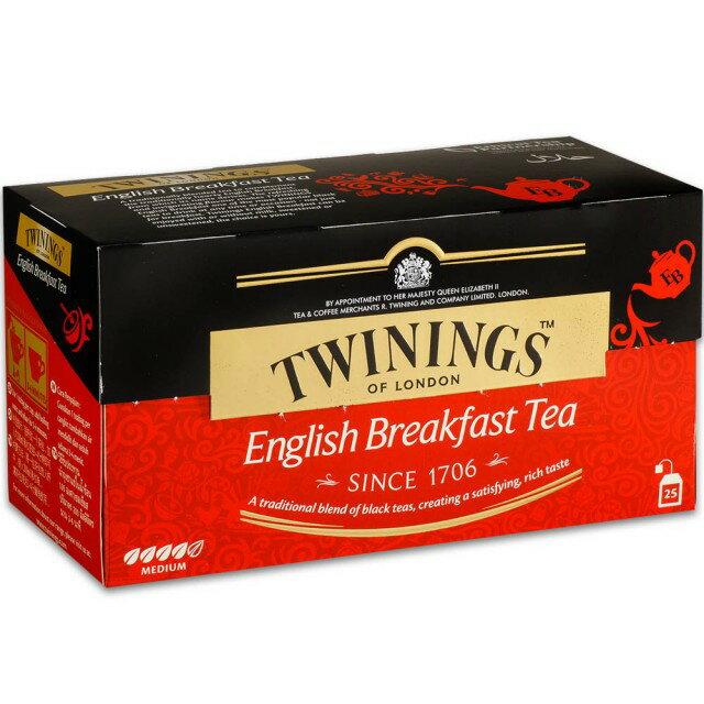 唐寧茶包早餐茶包, 英國《TWININGS》唐寧英倫早餐茶包 2*25入/盒