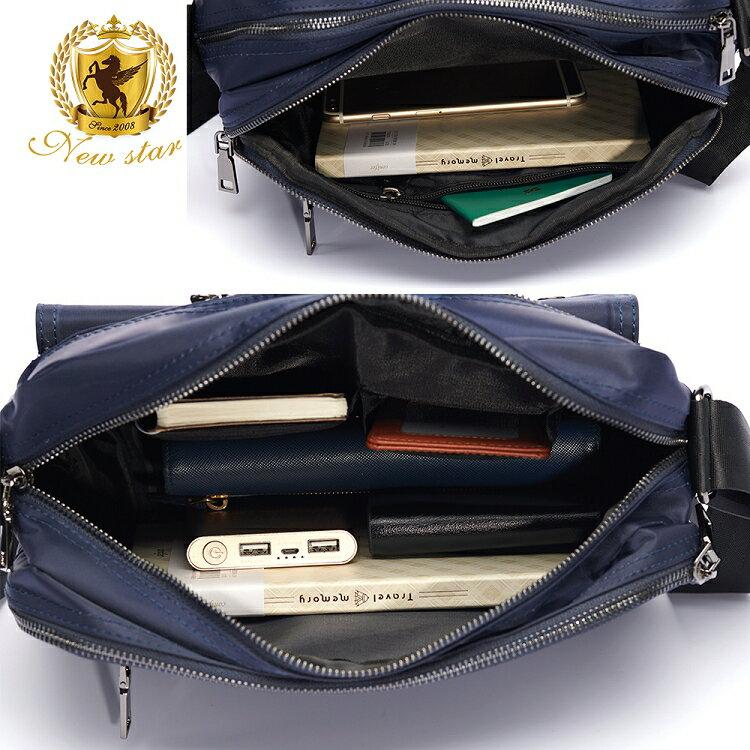 日系防水側背包包 升級版  (機能 雙口袋 雙層 斜背包 porter風 NEW STAR BL89 3