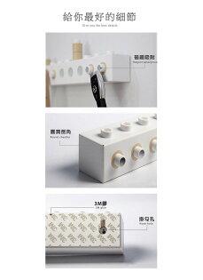 簡約裝飾DIY積木掛鉤創意樂高拼接衣帽掛勾磁吸鑰匙收納門後衣鉤