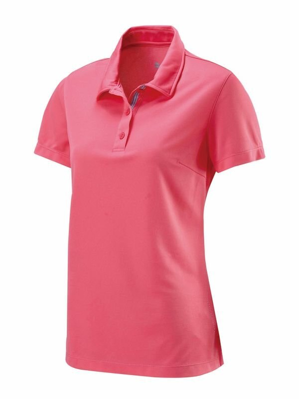 【【蘋果戶外】】荒野 W1621-78 粉橘色 WildLand 女 疏水紗素色短袖POLO衫 吸濕排汗 運動上衣 休閒 運動 快乾透氣 輕薄舒適 大尺碼