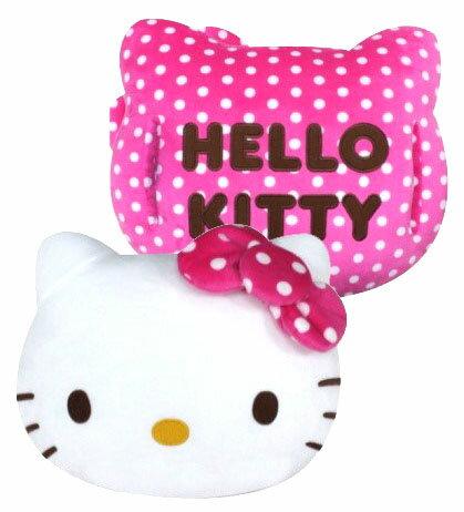 免運~Hello Kitty 圓點暖手抱枕尺寸 : 38x45 cm