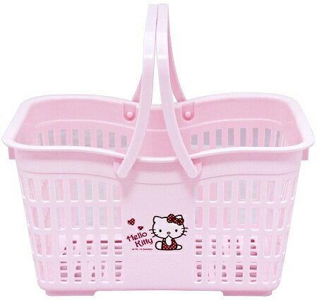 599^~Hello Kitty小花置物籃 Hello Kitty置物籃 收衣籃 菜籃 收