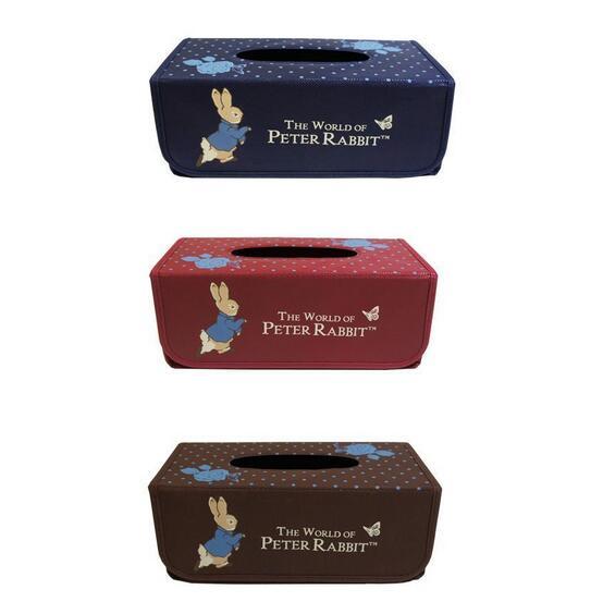 599^~彼得兔專利正品不織布面紙盒~共三色,尺寸約:13^~26^~11公分,彼得兔面紙