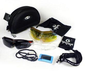 【珍愛頌】B068 防彈升級版運動眼鏡 送2綁腿 含1偏光鏡 防UV 防彈鏡片 防風眼鏡 太陽眼鏡 自行車 單車 機車