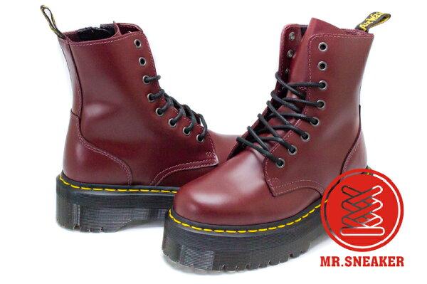 ☆Mr.Sneaker☆Dr.MartensJadon8孔馬汀厚底增高經典硬皮龐克英國櫻桃紅、黑色兩色