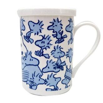 【真愛日本】13052200021 附蓋馬克杯-SN多塔克F 史努比 SNOOPY 咖啡杯 下午茶杯 陶瓷杯