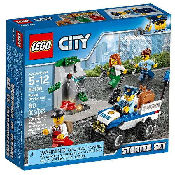 樂高積木LEGO《 LT60136 》2017 年 CITY 城市系列 -警察系列入門套裝