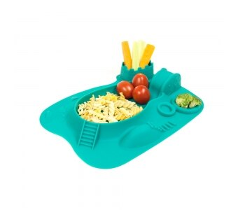 加拿大 MARCUS  MARCUS 動物樂園遊樂 餐盤-大象(綠)★愛兒麗婦幼用品★