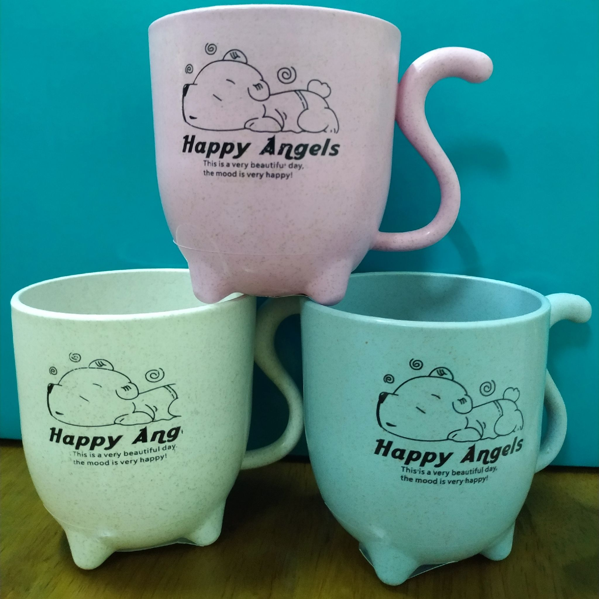 小麥貓尾咖啡杯(3個/組)
